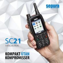 Lansering av Sepura SC21 – liten och smart Tetraterminal