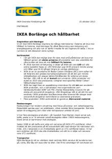 Fakta IKEA Borlänge - Hållbarhet