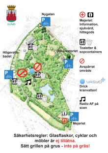 Karta för valborgsfirande i stadsparken