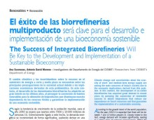 """NEW ARTICLE """"THE SUCCESS OF INTEGRATED BIOREFINERIES"""" PUBLISHED!"""