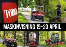 Maskinvisning 19-20 april i Västerås.