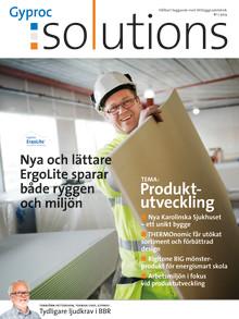 Nytt nummer av kundtidningen Gyproc Solutions