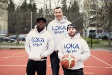 LOKA och Svenska Basketbollförbundet startar basketklubb med Ison & Fille