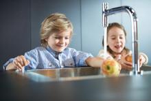 Mærket hansgrohe løfter tæppet for innovationer til køkkenet på LivingKitchen 2017