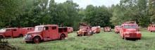 Jättesamling brandbilar under klubban