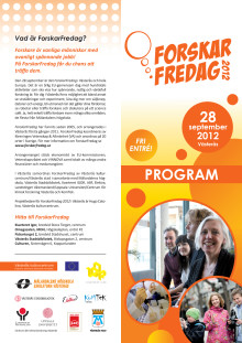 Program ForskarFredag den 28 september 2012