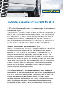 Goodyear præsenterer vinterdæk for 2019