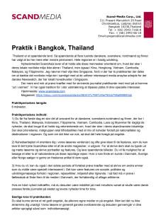 Praktikopslag, Bangkok