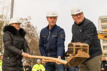 Första spadtaget togs för nytt Dagnyhus