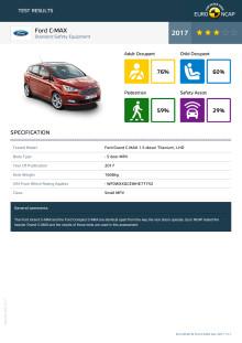 Ford C-MAX datasheet - Dec 2017