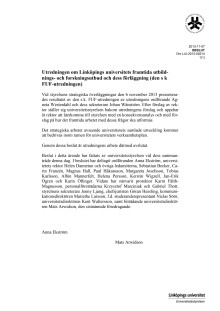 Slutlig rapport FUF-utredningen