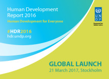 Media Advisory: Human Development Report to launch on 21 March in Stockholm, Sweden