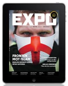 Tidskriften Expo finns nu som app till Ipad och Iphone