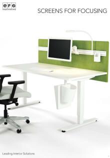 EFG seinäkkeet ja pöytäseinäkkeet avotoimistoon