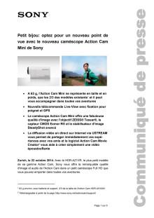 Communication de presse_Action Cam HDR-AZ1VR_F-CH_140903