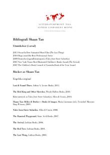 Bibliografi Shaun Tan