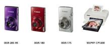 Canon presenterar nya IXUS-kameror och SELPHY-skrivare