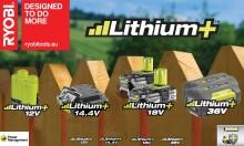 RYOBI® Lithium+ akkuteknologia