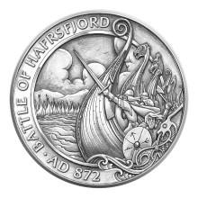 Norsk illustratør fikk prestisjeoppdrag: Den norske vikingkolonien Isle of Man hedrer Slaget ved Hafrsfjord