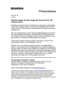 Skanska bygger järnväg i Dingersjö, Sundsvall, för 320 miljoner kronor