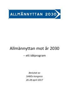 Allmännyttan mot år 2030