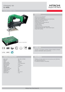 HITACHI Stikksag 18V CJ18DSL (5,0Ah)