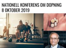 Nationell konferens om dopning 8 oktober 2019