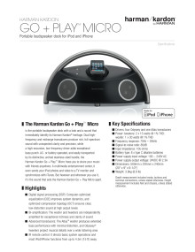 Specification sheet - harman kardon Go and Play Micro (English)