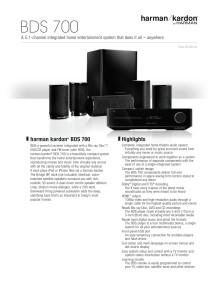 Specification sheet - harman kardon BDS 700 (English)