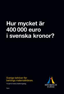 """Högskolan i Gävle marknadsför lärarutbildningen i kampanjen """"Hur mycket fel kan det bli?"""""""