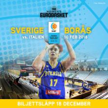 Damlandslaget möter Italien i Borås
