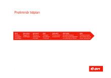 Preliminär tidplan för rivningen av Barsebäck