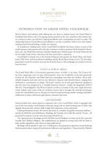Introduction to Grand Hôtel