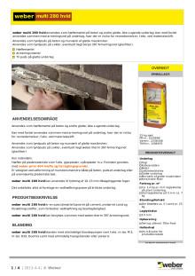 Produktblad - weber multi 280 hvid