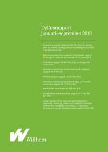 Willhems delårsrapport januari - september 2013
