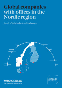 ​Stockholm and Copenhagen dominate global listed companies' location of regional headquarters in the Nordic region