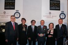 Benedetto Pistruccin Waterloo -mitali luovutettiin Waterloo -taistelun voittajamaille