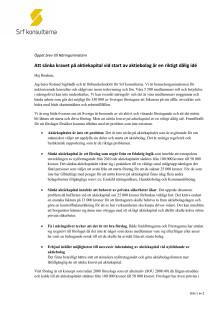 Öppet brev till Näringsministern angående förslaget om sänkt aktiekapital