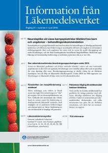 Information från Läkemedelsverket nr 4 2016