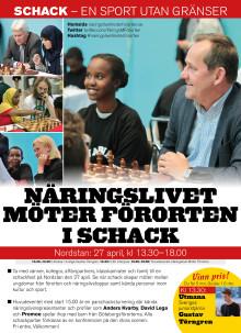 Näringslivet möter förorten i schack spelarlista 27/4 kl 15.00