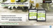 Kingston SD Select med læsehastighed op til 80MB/s og skrivehastighed op til 45MB/S