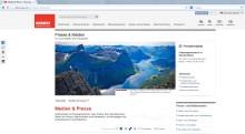 In eigener Sache: VisitNorway.com mit frischen Presseseiten