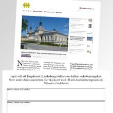 Nätverkets upprop om Tingshuset i Lindesberg fick stort gensvar