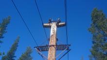 Betongkontroll på världens längsta linbana