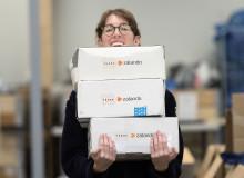 Wargön Innovation tar emot kläder i Zalando- och Röda Korset-kampanj
