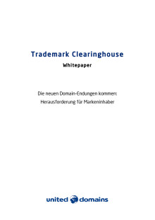 Whitepaper zum Trademark Clearinghouse