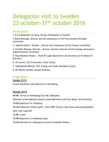 Program för delegationsbesöket