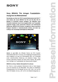 Medienmitteilung_BRAVIA FussballWM2014_D-CH_140606