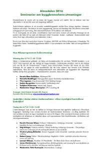 Program A4 Almedalen 2016