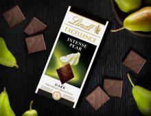 En uppfriskande nyhet i chokladhyllan... Upptäck nya Lindt Excellence Intense Pear.